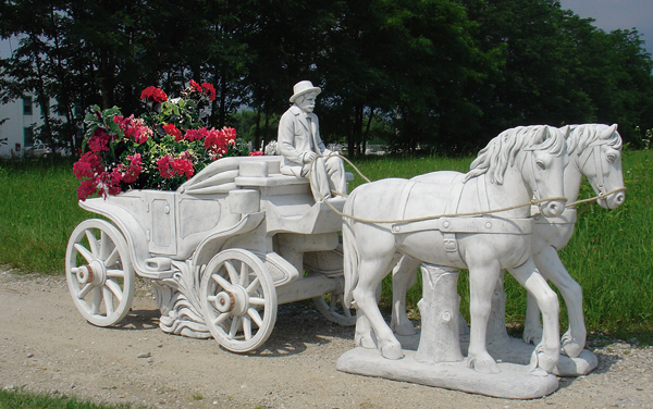 Animali da giardino ornamentali in cemento bianco te442 dg for Animali da giardino