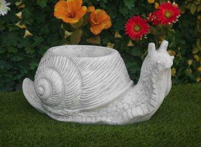 Animali da giardino ornamentali in cemento bianco 947 da for Animali da giardino