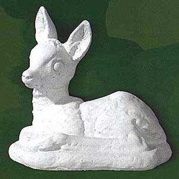 Animali da giardino ornamentali in cemento bianco bambi for Animali da giardino