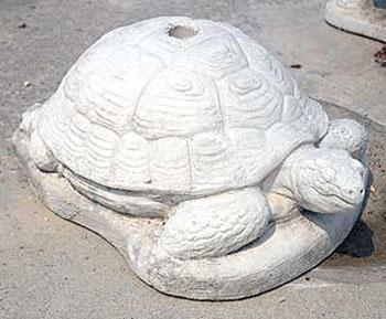 Animali da giardino ornamentali in cemento bianco for Tartaruga prezzo