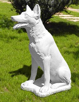 Animali da giardino ornamentali in cemento bianco pastore for Animali da giardino finti