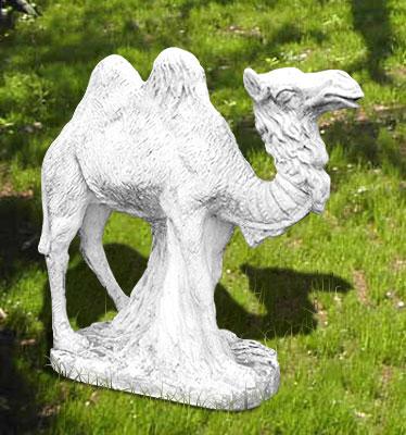 Animali da giardino ornamentali in cemento bianco cammello for Animali da giardino
