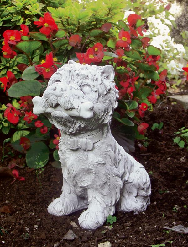 Animali da giardino ornamentali in cemento bianco te463 dg for Animali da giardino