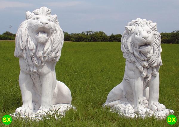 Animali da giardino ornamentali in cemento bianco te397 dg for Animali da giardino