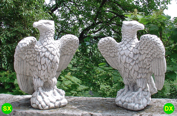 animali da giardino ornamentali in cemento bianco te388 dg
