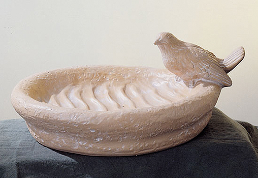 193 nf vaschetta con colomba in resina vendita animali for Vaschetta da esterno