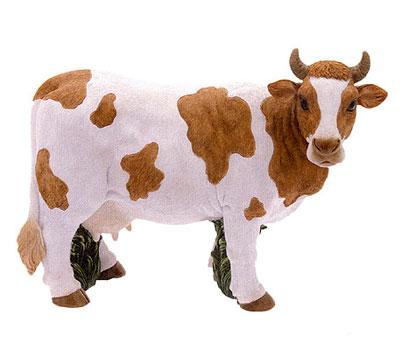 Ha7063m mucca fattoria in resina vendita animali in for Animali da giardino