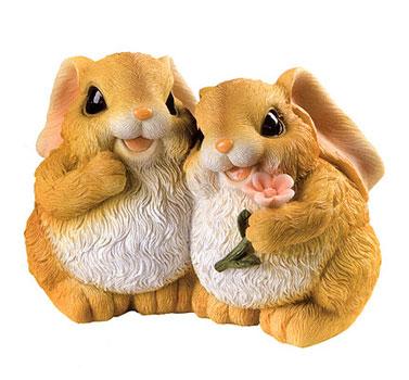 Ha9081s coniglietti innamorati in resina vendita for Animali da giardino