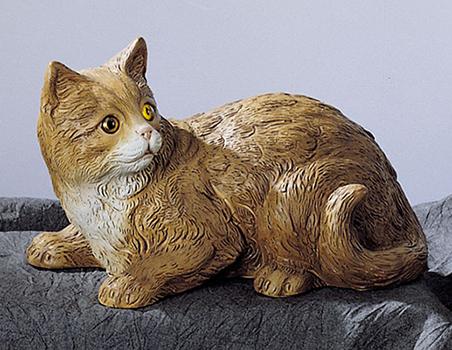 41m nf gatto sdraiato in resina vendita animali in for Animali da giardino