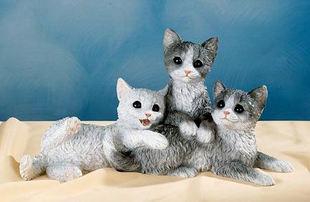 379 nf tris di gattini in resina vendita animali in for Animali da giardino