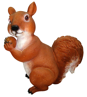 An0006 m scoiattolo in resina vendita animali in for Animali da giardino