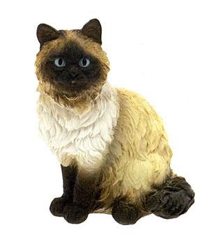 Ha7093s gatto siamese in resina vendita animali in for Animali da giardino