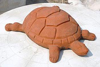 Tartaruga in terracotta vendita animali da giardino da for Tartaruga da giardino