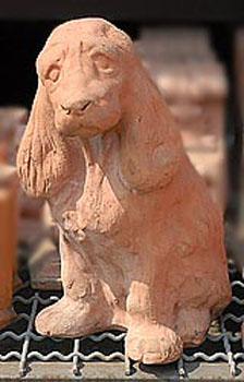 Cane in terracotta vendita animali da giardino da for Anfore terracotta da giardino