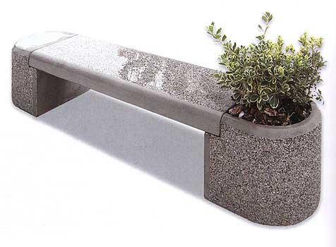 Panchina in cemento con fioriera per parchi e giardini for Vendita arredo urbano
