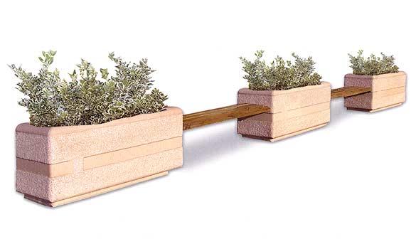 Fioriera con panchina per parchi e giardini vendita for Vendita arredo urbano