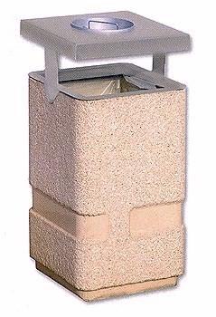 Cestino portarifiuti da esterno con spegnisigarette vendita for Cestini portarifiuti arredo urbano prezzi