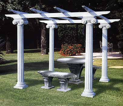 Chiosco con colonne e travi in cemento 802 i vendita for Colonne da giardino