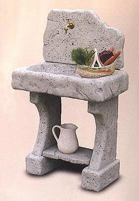 Lavello a muro anteo con rubinetto in omaggio mu07os r - Fontane a muro da giardino ...