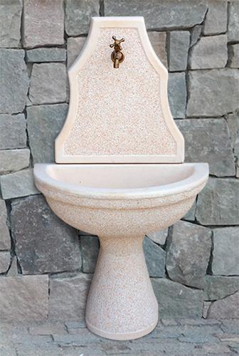 Fontana a muro sparta con rubinetto in omaggio spa brn k - Fontane a muro da giardino ...