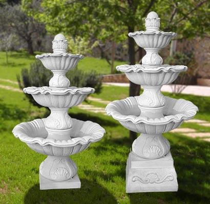 811 s 812 s fontana a cascate anzio con pompa for Fontane a cascata da giardino