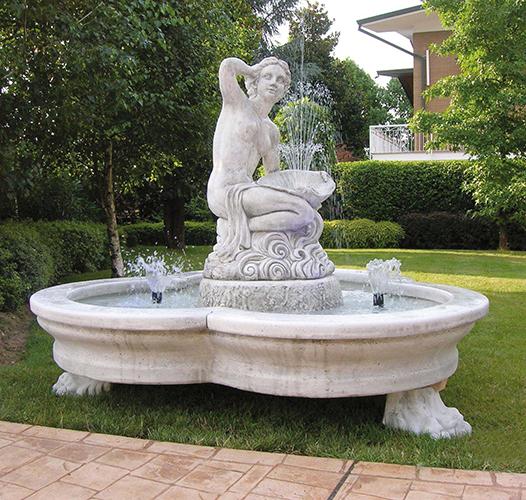 Vendita Fontane Da Giardino.900 I Fontana Conchiglia Con Kit Idrico E Kit Luminoso