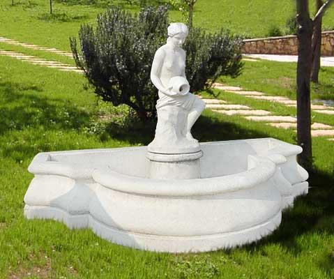 Fnc38 b stp76 b base01 b fontana iris con pompa for Cascate in giardino