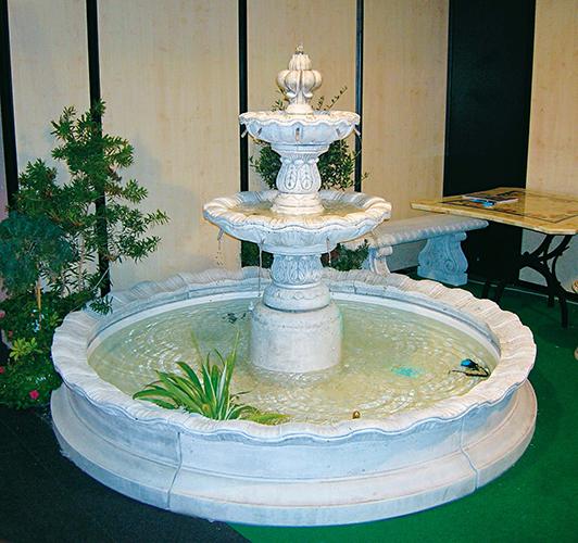 934 i fontana a cascate otranto con kit idrico e kit for Cascate in giardino