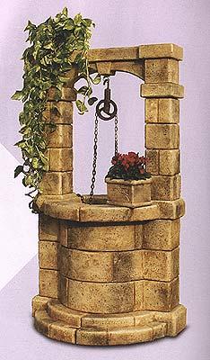 Pozzi ornamentali da giardino in cemento colorato vendita for Pozzi finti per giardino