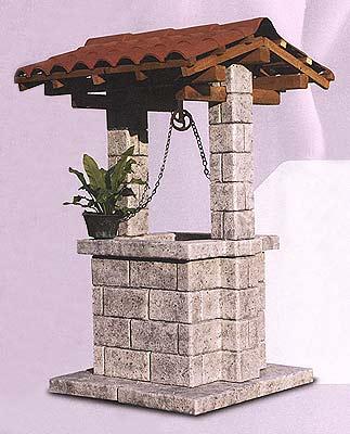 Pozzi ornamentali da giardino in cemento colorato vendita for Pozzi in pietra da giardino