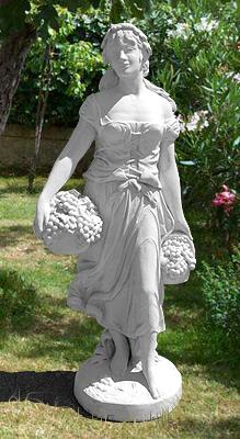 303 s contadina con uva vendita statue da giardino in - Statue giardino ...