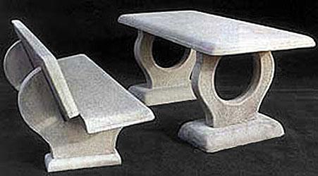 Panca Con Tavolo Da Giardino : Tavoli e panche in cemento da giardino per interno ed esterno vendita