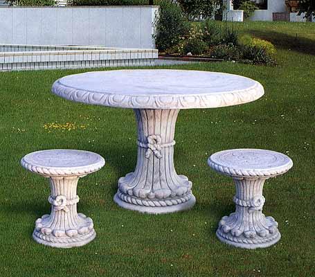 Tavoli e panche in cemento da giardino per interno ed - Panche e tavoli da esterno ...
