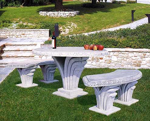 Tavoli e panche in cemento da giardino per interno ed esterno vendita - Tavoli pieghevoli da interno ...