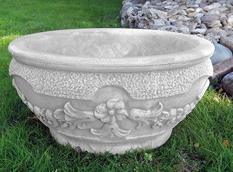 Pozzi Decorativi Da Giardino : Va b ciotola festonata vendita vasi in cemento da giardino