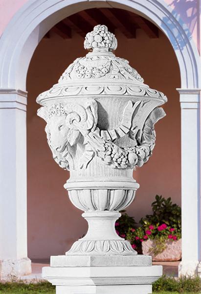 Va88 b vaso con bordo a foglie vendita vasi in cemento for Interno b 197 orari