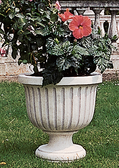 Va120 b vaso rigato vendita vasi in cemento da for Vasi decorativi da interno