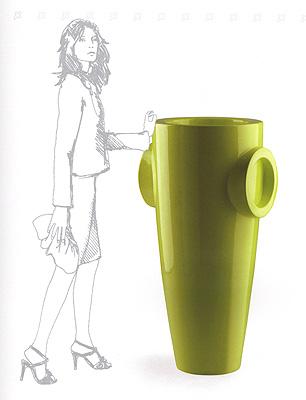 Vaso humprey in resina vasi da giardino moderni e new age vendita - Tappeti moderni verde acido ...