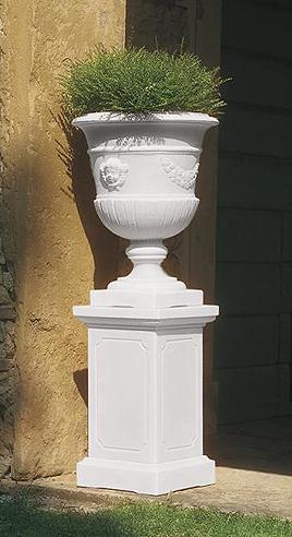 Fioriera putti in resina basamento in resina vasi in for Vasi da giardino in plastica