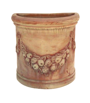vaso a muro festonato in terracotta t24105 mr t24101