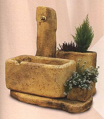 Fontane da giardino vedovella in cemento clarissa da - Fontane a muro per esterno ...