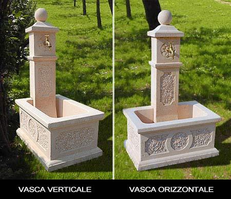 Pin fontane da giardino in pietra e a muro genuardis - Vasche in pietra da giardino ...