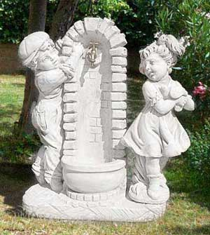 Fontane da giardino vedovelle in cemento in granito in - Fontane da interno ...