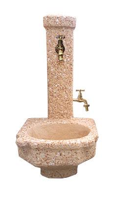Fnr27 b fontana vedovella doppio rubinetto augusta da - Rubinetti per fontane da giardino ...